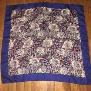 RARE Liberty of London silk scarf blue print